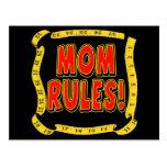 Règles de maman carte postale