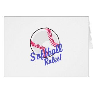 Règles du base-ball ! carte de vœux