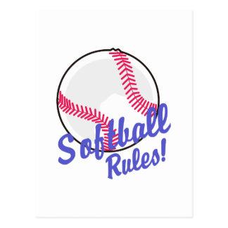 Règles du base-ball ! carte postale