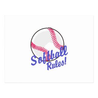 Règles du base-ball ! cartes postales