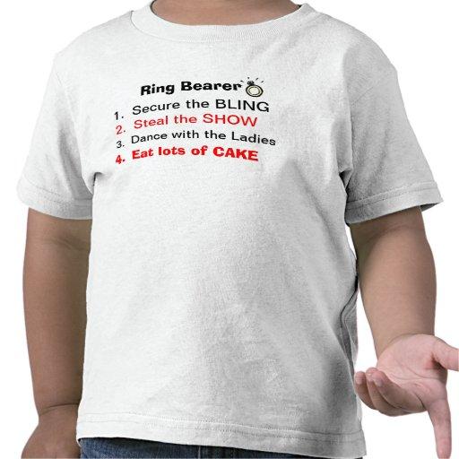 Règles d'un T-shirt de porteur d'alliances