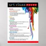 Règles pour la salle de classe d'art poster