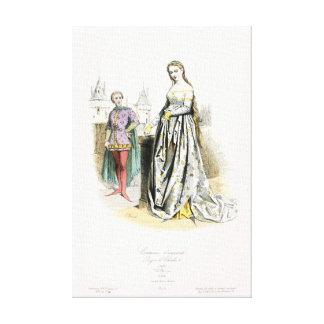Règne médiéval de mode de Charles V Toiles Tendues Sur Châssis