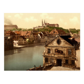 Regnitz and Michaelsberg Bamberg Bavaria Germany Postcard