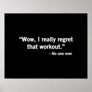 Regret de séance d entraînement