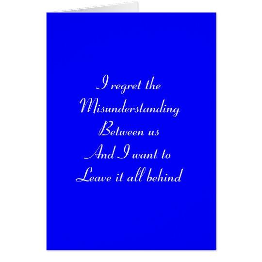 Regret-misunderstanding Card