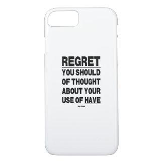 REGRET Phone case. iPhone 8/7 Case