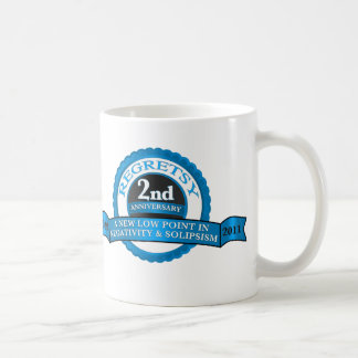Regretsy 2 Year Anniversary Basic White Mug