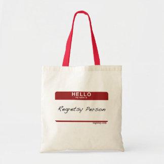 Regretsy Person Tote Canvas Bag