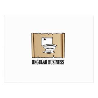 regular business toilet postcard