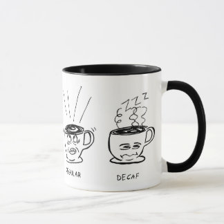 Regular/Decaf Cartoon Coffee Mug