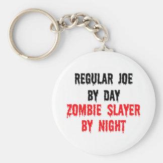 Regular Joe By Day Zombie Slayer By Night Keychain