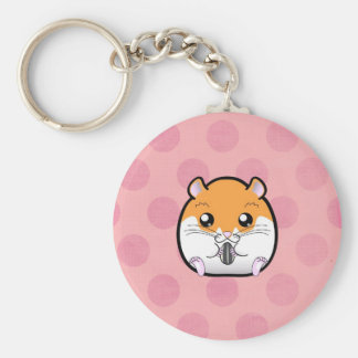Regular Syrian Orange White Hamster Keychain