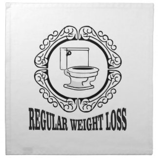 regular weight loss tag napkin
