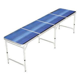 Regulation size beer pong table, blue.