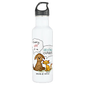 Rehab & Detox Cartoon: Recovery Sobriety DrugFree 710 Ml Water Bottle