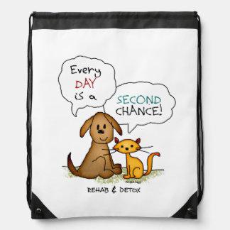 Rehab & Detox Cartoon: Recovery Sobriety DrugFree Drawstring Bag