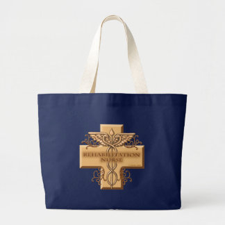 Rehab Nurse Caduceus Large Tote Bag