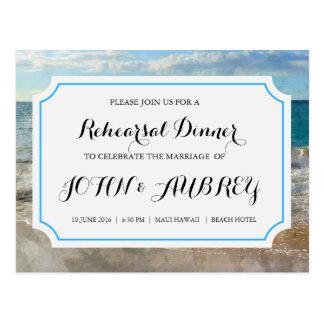 Rehearsal Dinner for Beach or Tropical Wedding Postcard