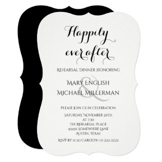 Rehearsal Dinner Happily ever after Card