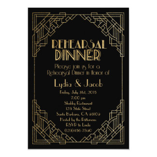 Rehearsal Dinner Invitation-Art Deco Invitation