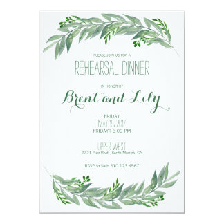 Rehearsal Dinner Invitation - Greenery Foliage