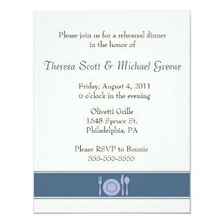 Rehearsal dinner invite - navy