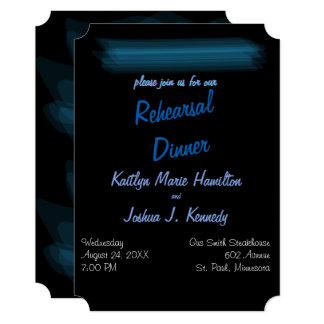 Rehearsal Dinner Minimalist Elegant Glowing Gothic Card