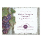 Rehearsal Dinner Party Red Wine Wood Fence Theme Card