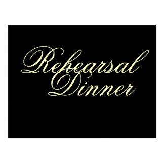 Rehearsal Dinner Postcard Invitations Classic