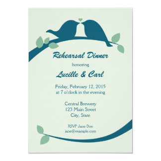 Rehearsal Dinner with Lovebirds Card