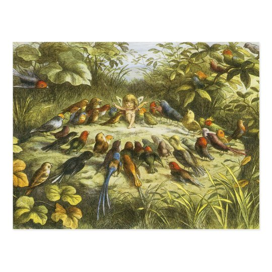 Rehearsal in Fairyland PostCard by Richard Doyle