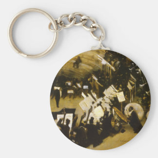 Rehearsal of the Pasdeloup Orchestra by Sargent Basic Round Button Keychain