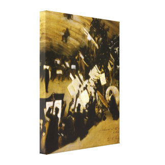 Rehearsal of the Pasdeloup Orchestra by Sargent Gallery Wrap Canvas