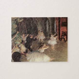 Rehearsal on the Stage by Edgar Degas Jigsaw Puzzle