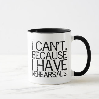 Rehearsals (black) 2-Sided Mug