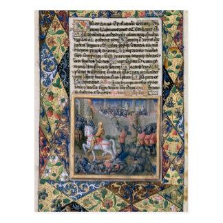 Rehoboam waging war against Jeroboam Postcard