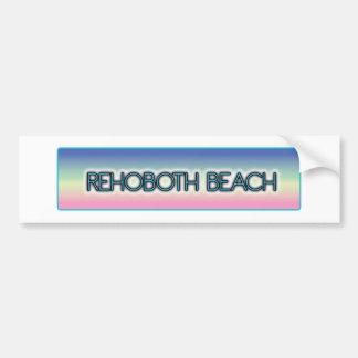 Rehoboth Beach Pastel Rainbow Style 1 Bumper Sticker
