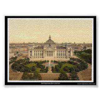 Reichstag House, Berlin, Germany Poster