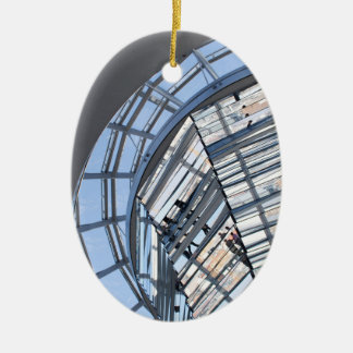 Reichstag Mirrored Dome - Berlin Ceramic Oval Ornament