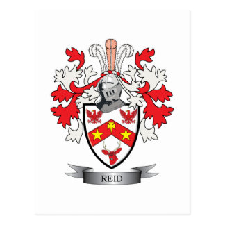 Reid Family Crest Coat of Arms Postcard