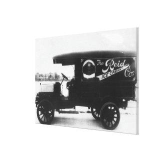 Reid Ice Cream Company Truck Stretched Canvas Prints