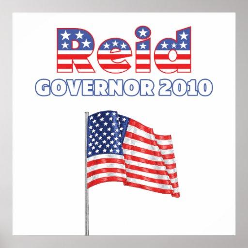 Reid Patriotic American Flag 2010 Elections Posters