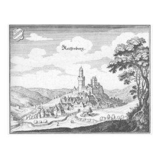 Reiffenberg copper engraving postcard