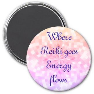 Reiki 3 Inch Round Magnet