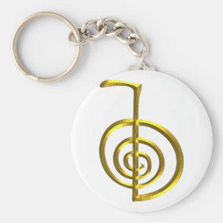 Reiki Basic Round Button Keychain