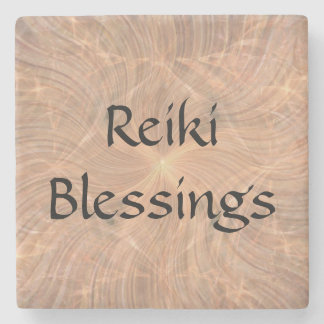 Reiki Blessings Stone Beverage Coaster