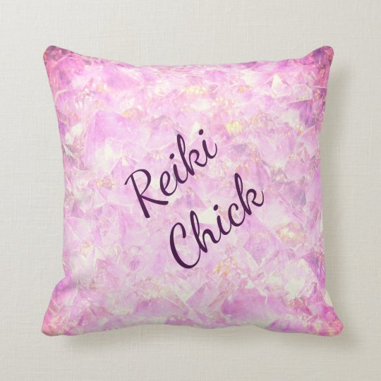 Reiki Chick Throw Pillow