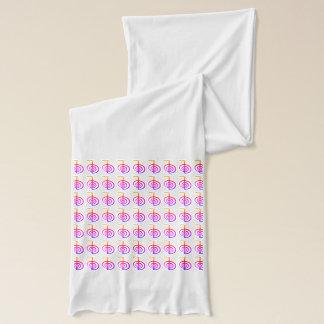 Reiki CKR  rainbow symbol scarf (white)