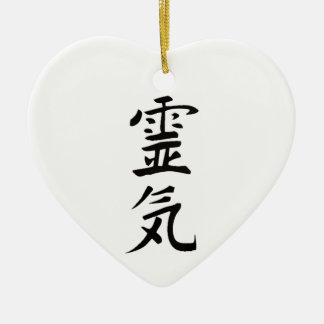 Reiki from the Heart Ceramic Ornament